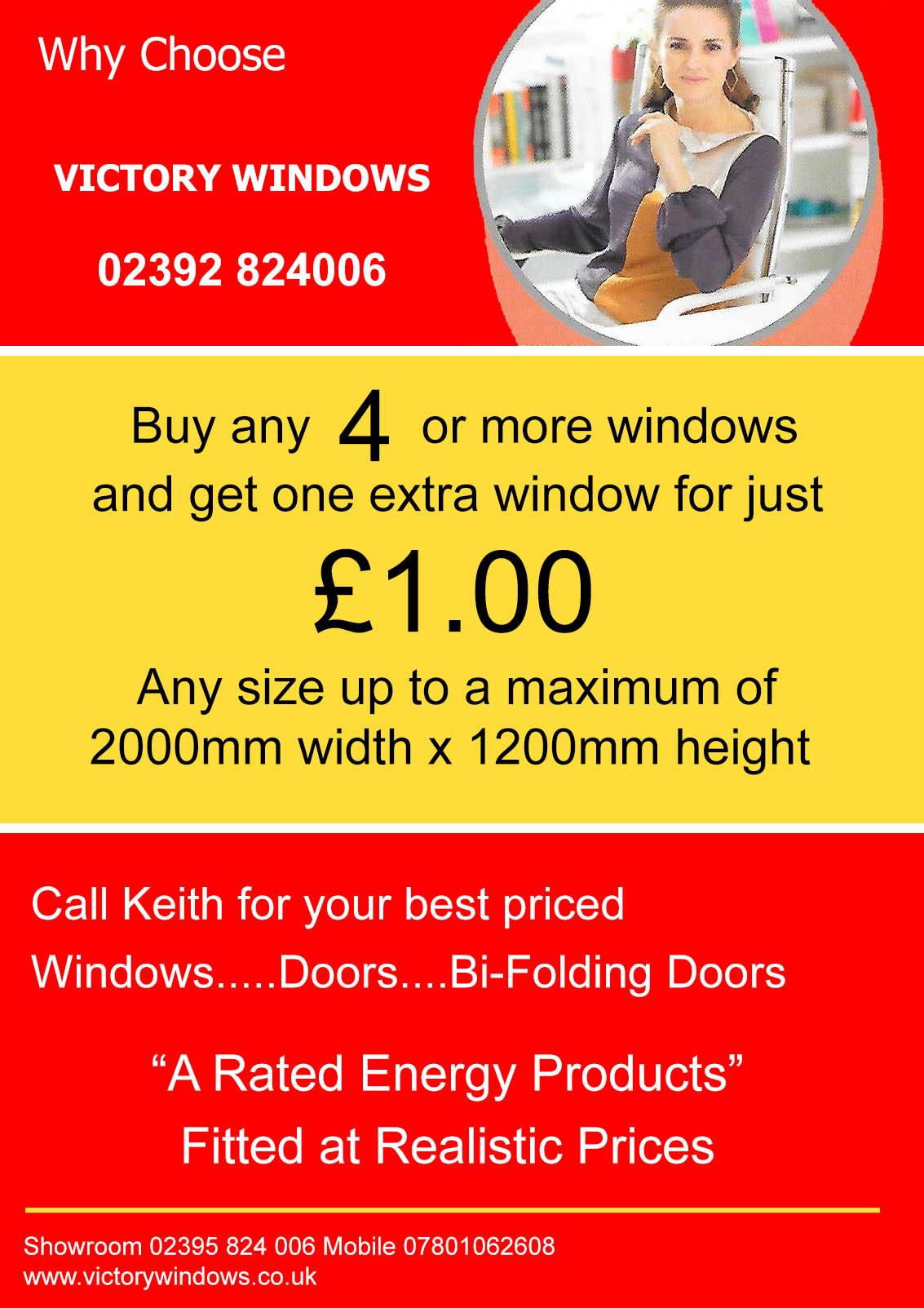 WIndows Doors and Bi-Folding Doors offers from Victory Windows Hampshire